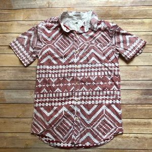 On the Byas Button Down Shirt Aztec Short Sleeve
